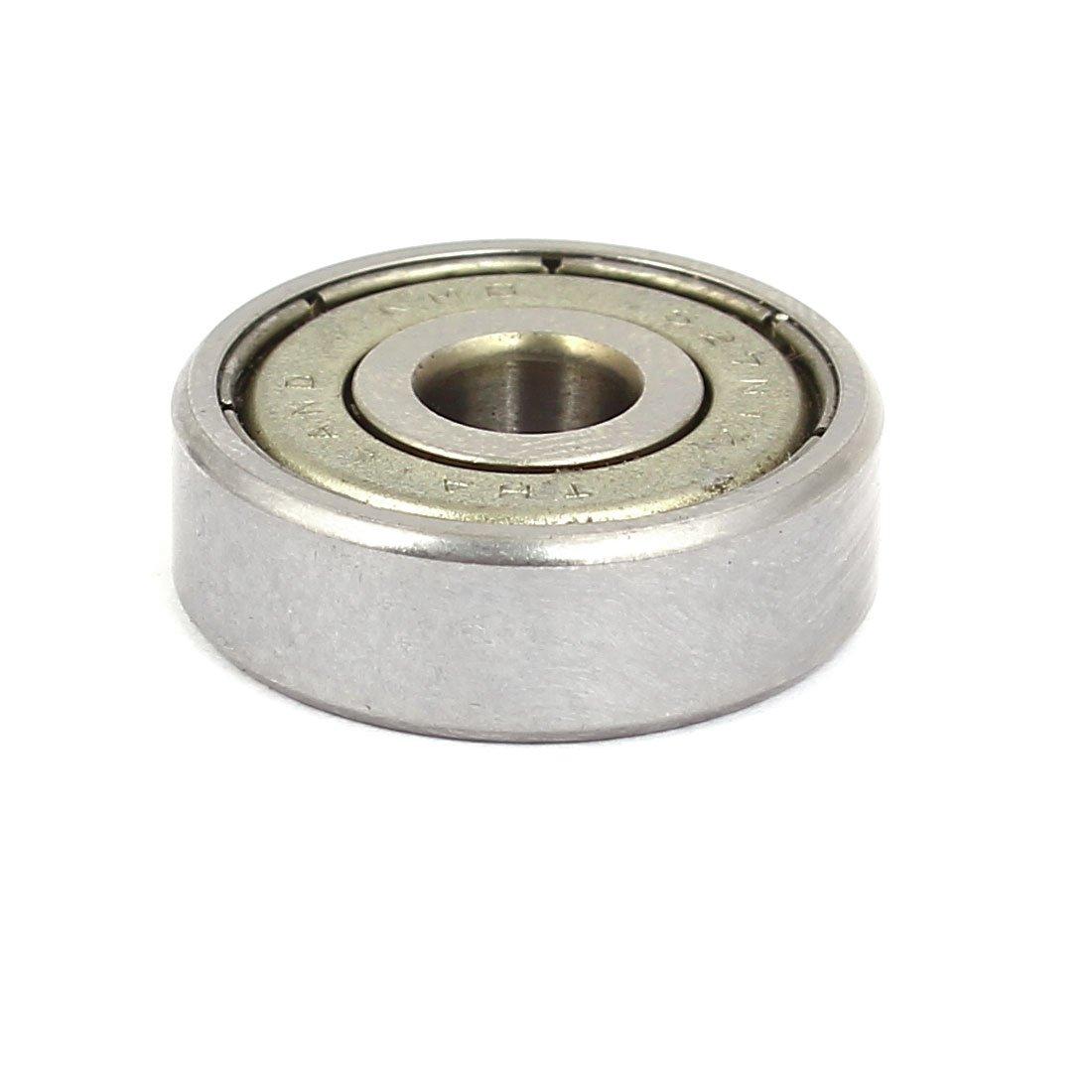 uxcell 6mm x 22mm x 7mm Steel Sealed Single Row Deep Groove Ball Wheel Bearings 5PCS