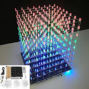 Squared DIY Kit 8x8x8 LED Cube Licht PCB Board für Arduino
