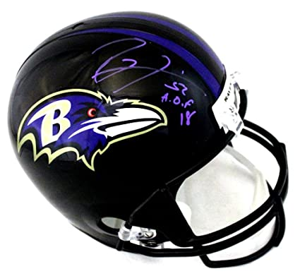 2cd4856a9 Amazon.com  Ray Lewis Signed Baltimore Ravens Full Size NFL Black ...