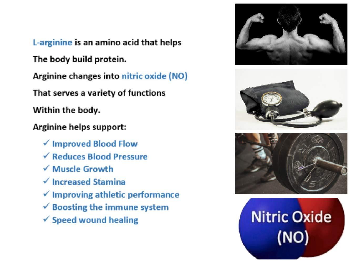 L-arginine Pro, 1 NOW L-arginine Supplement - 5,500mg of L-arginine PLUS 1,100mg L-Citrulline + Vitamins & Minerals for Cardio Health, Blood Pressure, Cholesterol, Energy (Berry, 3 Jars) by L-arginine Pro (Image #9)