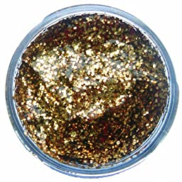 Snazaroo Face Paint 12ml Face - Body Glitter Gel, Red Gold