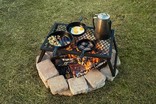 AmazonBasics Heavy Duty Folding Campfire Grill, Medium