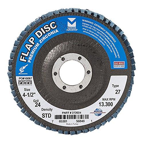 Mercer Industries 272024 Zirconia Flap Disc, Type