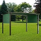 GHP Green UV30+ Polyester 17' x 6-1/2' Pergola Canopy Replacement Cover