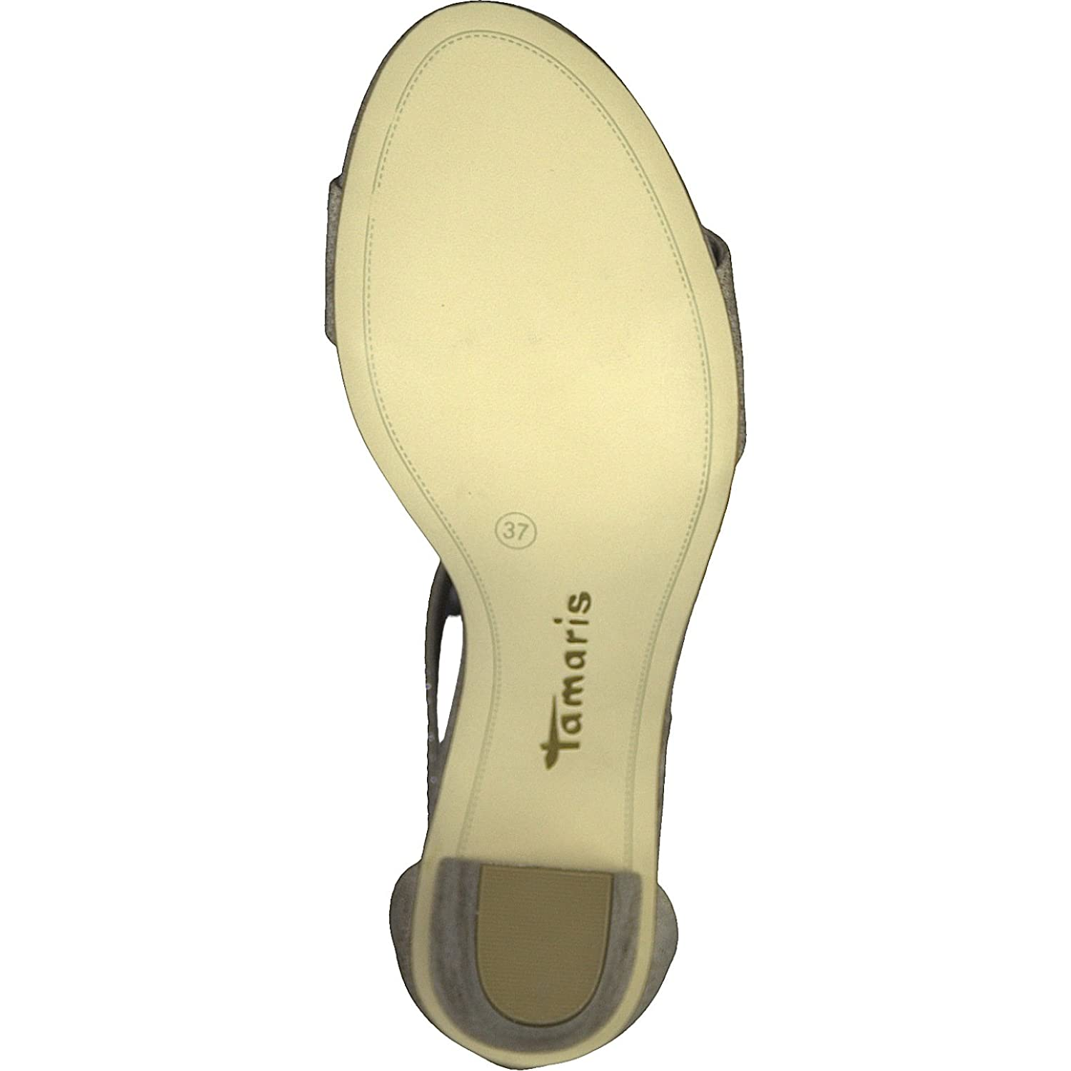 f02ef5845f0a Tamaris 28397-20-454 HEITI Ivory Womens Heeled Sandals  Amazon.co.uk  Shoes    Bags