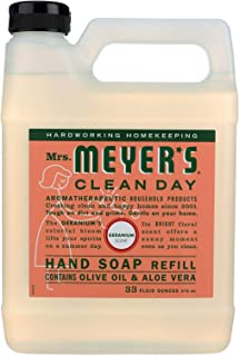 product image for Mrs. Meyers Liquid Hand Soap Refill Liquid 33 Oz Geranium Scent (pack of 6)
