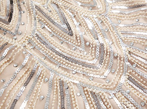 2e5ee6ea247 BABEYOND Women s Flapper Dresses 1920s Beaded Fringed Great Gatsby Dress
