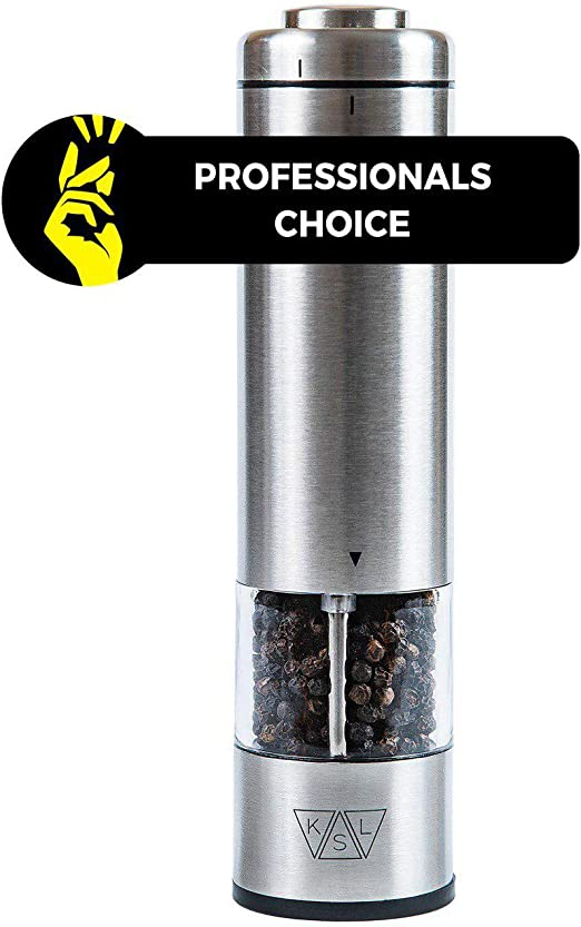 NEW Russell Hobbs Salt /& Pepper Mills Stainless Steel Automatic Housewarming Set