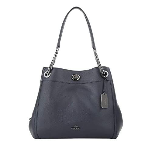 7b4a97608 COACH Turnlock Edie Shoulder Bag in Pebble Leather: Amazon.ca: Shoes &  Handbags