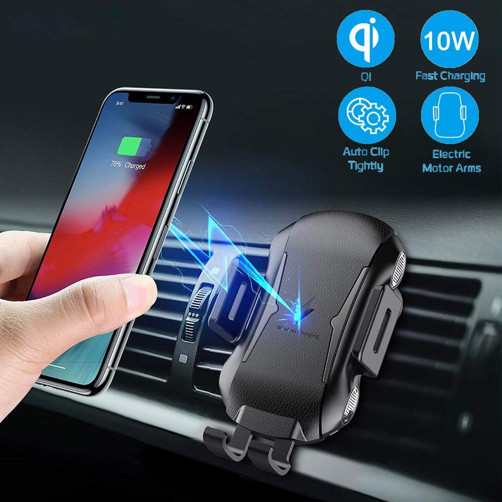 Air Vent Car Phone Mount Phone Holder Compatible with All Qi Phones Marrrch Wireless Car Charger,Full-Automatic 10W Qi Fast Charging for Samsung Galaxy S10e//Note 9//8// S9// S8 Black
