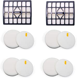YOKYON Felt and Foam Hepa Filters Replacement Kit for Shark Rotator Slim Light Lift-Away Upright Vacuum NV340 NV341 NV341Q NV342Q,Part 1229FC340 & XHF340