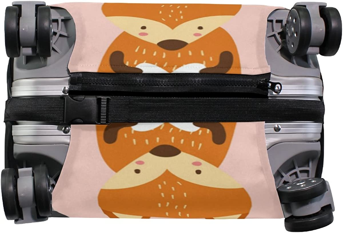 Elastic Travel Luggage Cover Raccoons Foxes Suitcase Protector for 18-20 Inch Luggage