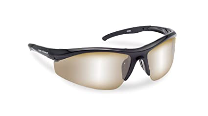 b27cc5264391 Flying Fisherman Spector Polarized Sunglasses (Black Frame, Amber/Silver  Mirror Lenses)