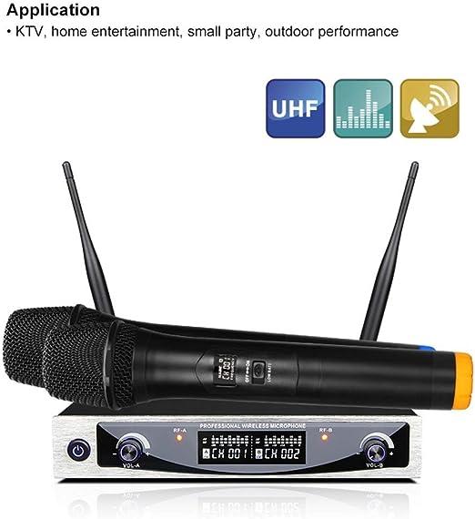 HHttM Sistema De Micrófono Inalámbrico De Mano UHF con ...