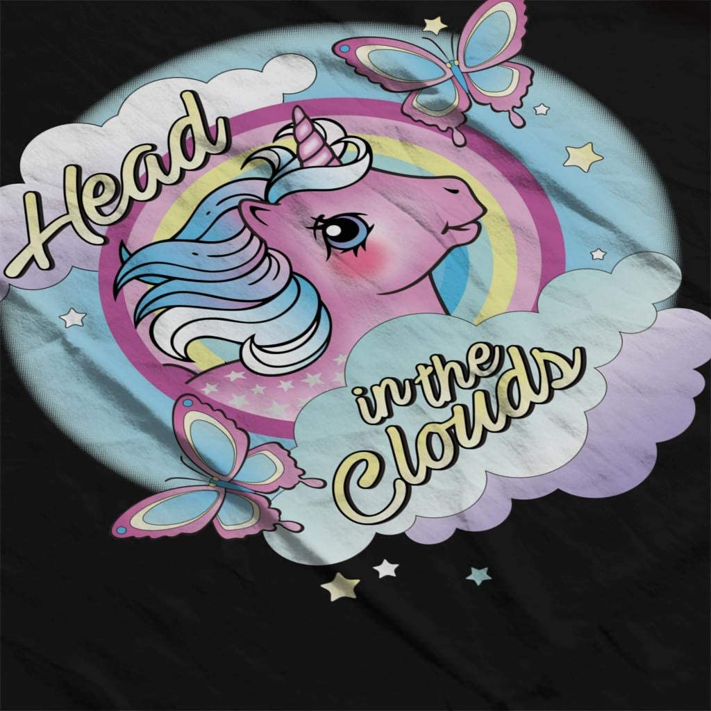 My Little Pony Head in The Clouds Men's Varsity Jacket Black/White