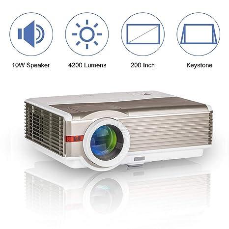 Amazon.com: LED LCD de vídeo proyector multimedia HDMI HD ...