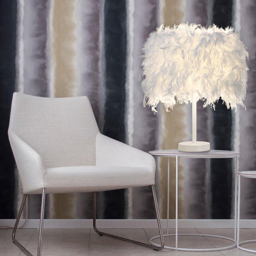 ELINKUME® Diamond Shape Desk Lamp Battery Powered Nordic Style Iron Bedside Lamp Night Light Decorative Lighting for Bedroom, Living Room, Bar, Hotel (Rose Gold) [Energy Class A]
