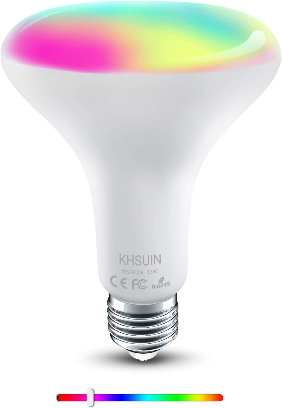 [2020 Upgrade] Smart Bulb,2.4G WiFi E26 BR30 13W(100w Equivalent) RGBCW Color Changing Light Bulb Compatible with Alexa and Google Assistant,Smart Bulbs That Work with Alexa