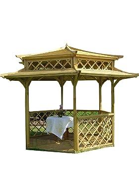Kiosque hexagonal en bois pour jardin Style japonais ...