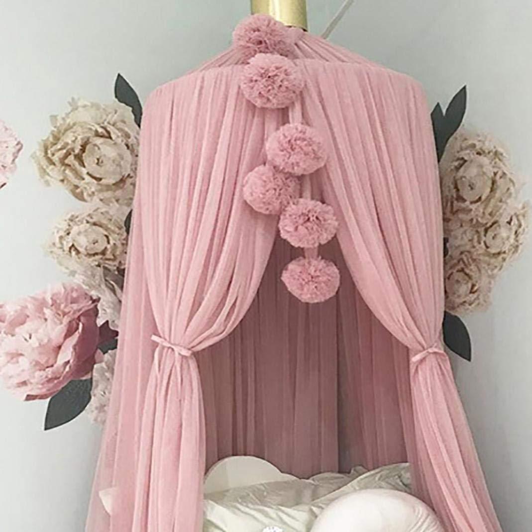 dragonaur Lovely Bedroom Decor Chiffon Balls Bed Net Hanging Ball Pendant Bed Canopy Mosquito Net Yarn Ball Ornaments for Kids White