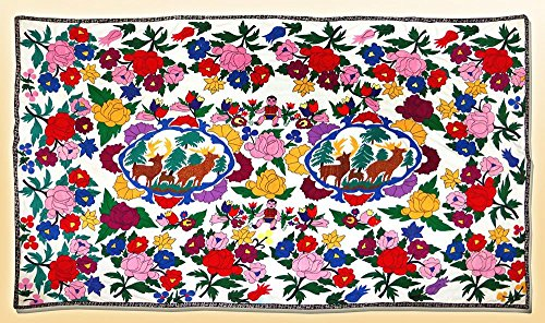 LARGE GORGEOUS UZBEK SILK HANDMADE EMBROIDERY SUZANI ''AMAZING NATURE'' A9379 by UzIkat