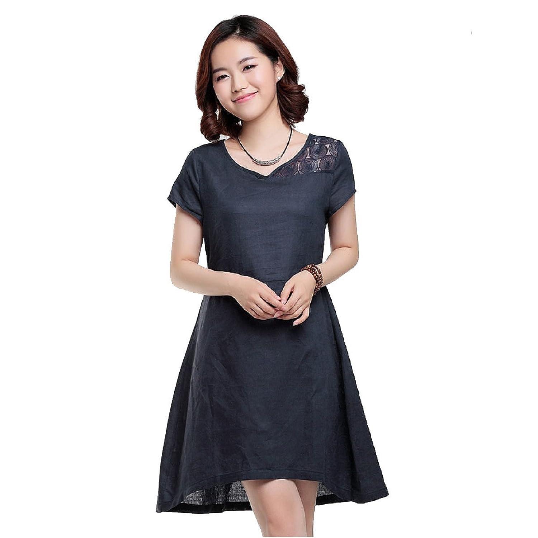 Sommer-Frauen Kleiden Hohl Mehrfarbig Multi-Größe