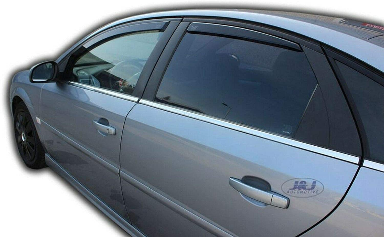 J/&J AUTOMOTIVE Derivabrisas para Opel Vectra C 5 puerta Hatchback 2002-2008 4 piezas
