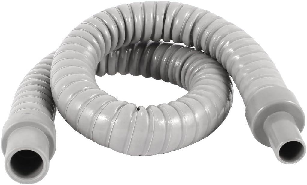 Sourcingmap® Acondicionado de Aire de Tubería de Drenaje Parte de Plástico Gris del Tubo de Agua de Manguera 55Cm de Largo