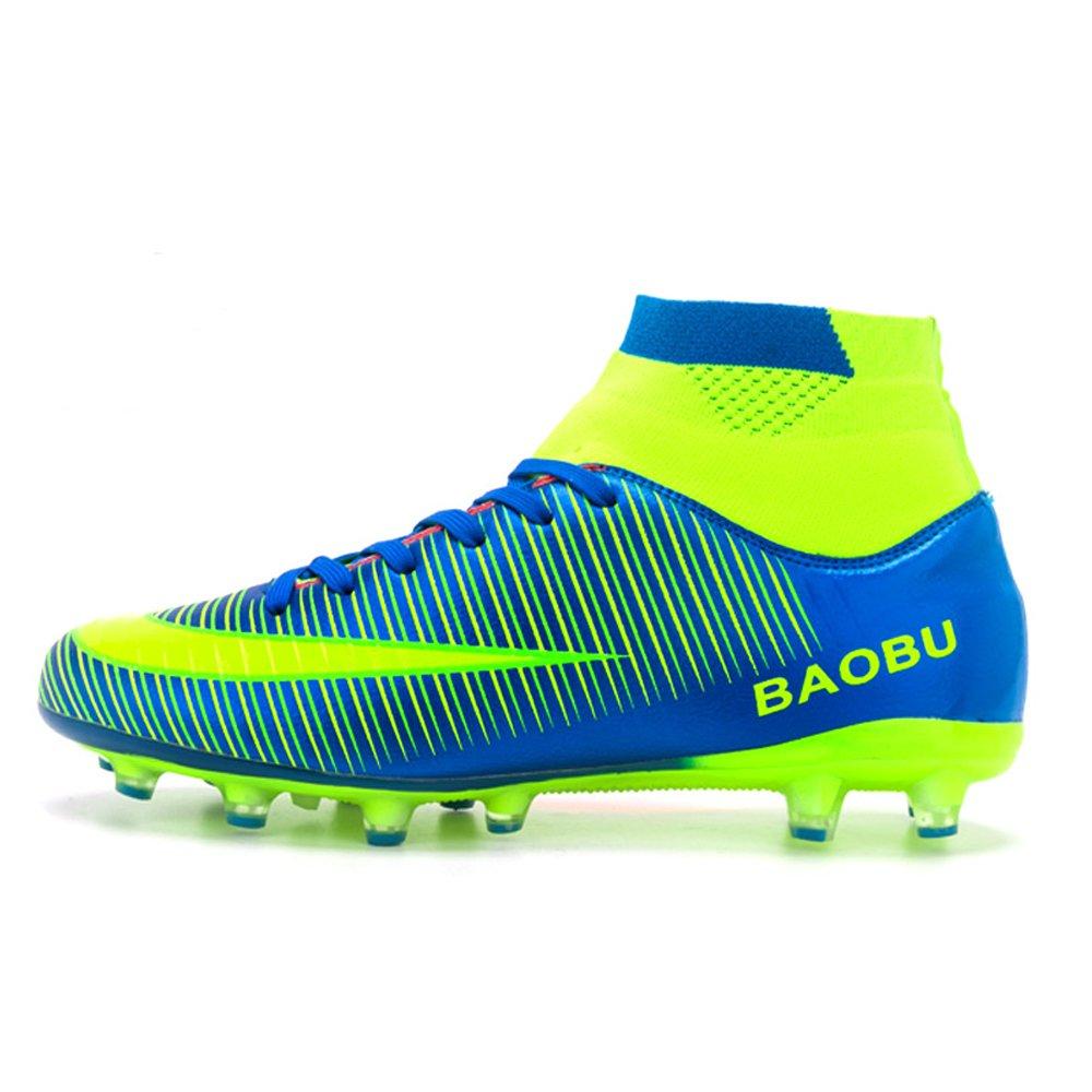 LANSEYAOJI Chaussures de Football Garçon Homme High Top Chaussures de Foot Crampons...