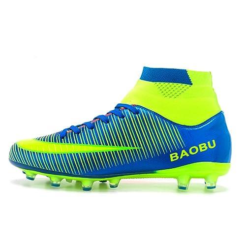 6af13d0cb05dd LSGEGO Botas de fútbol para Hombres Zapatos de fútbol con Tacones Altos  Zapatos de Entrenamiento con ...