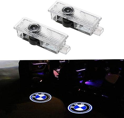 Image of 2 piezas LED Puerta de coche Luz de bienvenida Logotipo lámpara de bienvenida Símbolo láser Luces