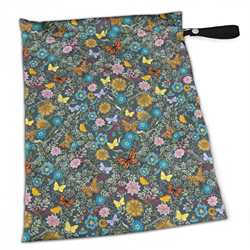 - YyTiin Reusable Snack and Everything Bags - Butterfly Chintz,Large