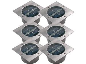 Bevorzugt 8er SET moderner Solar LED Bodeneinbaustrahler 4-eckig in ZA63