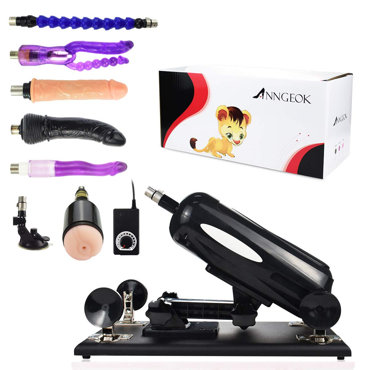 Massage Machine for Women Men ANNGEOK F Mahine Sex with 85°Adjustable Angle