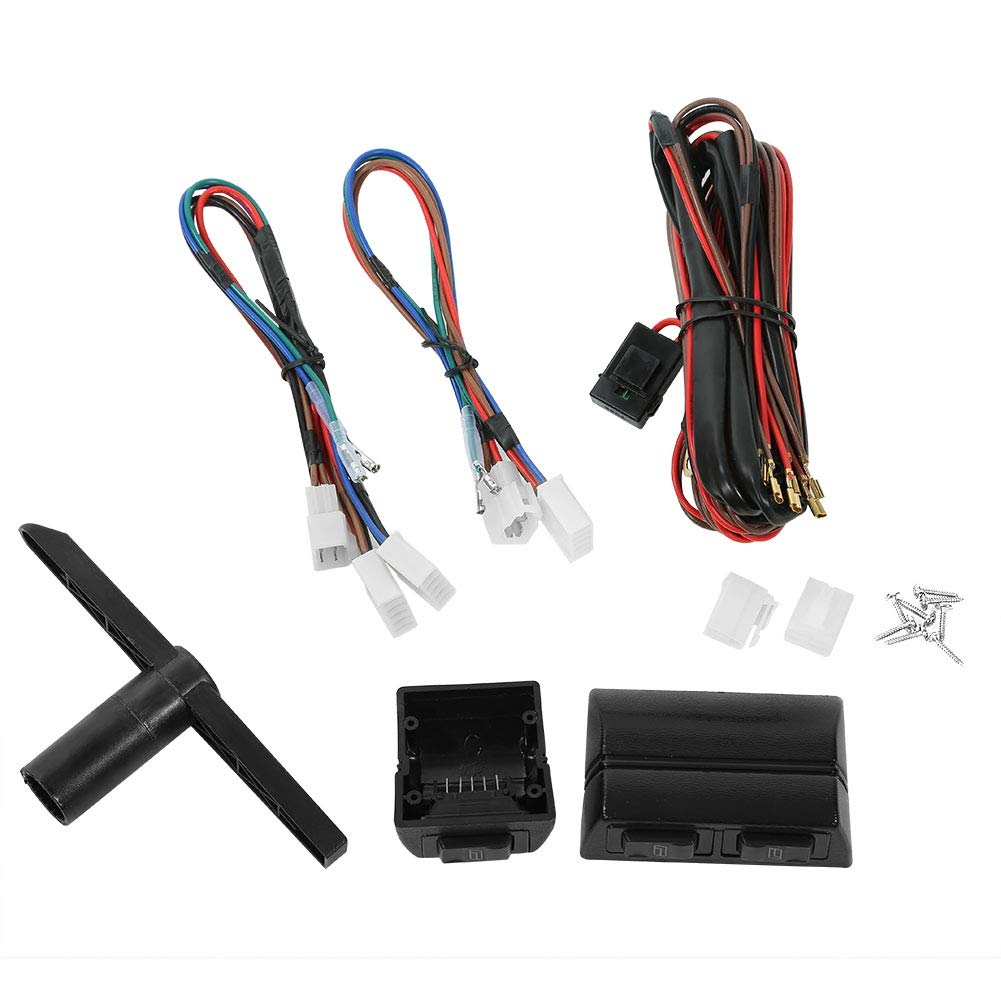 Zerone Universal 12V Elektrische Fensterheber Nachr/üsten mit Zubeh/örsatz f/ür 2-T/üren Auto,LKW,SUV