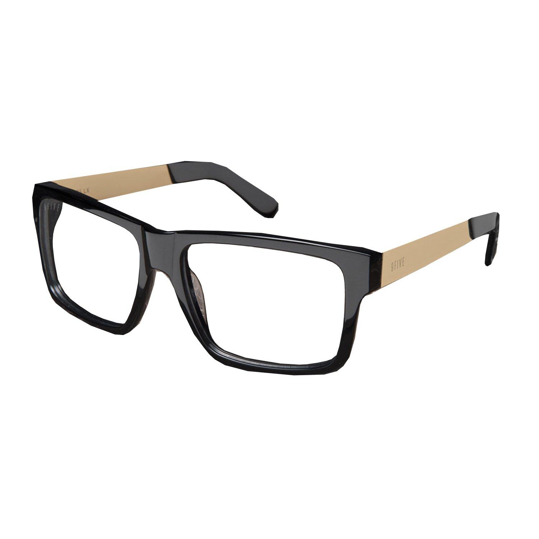 9Five Caps Lx Black Gold Clear Lens Reader Glasses O/S