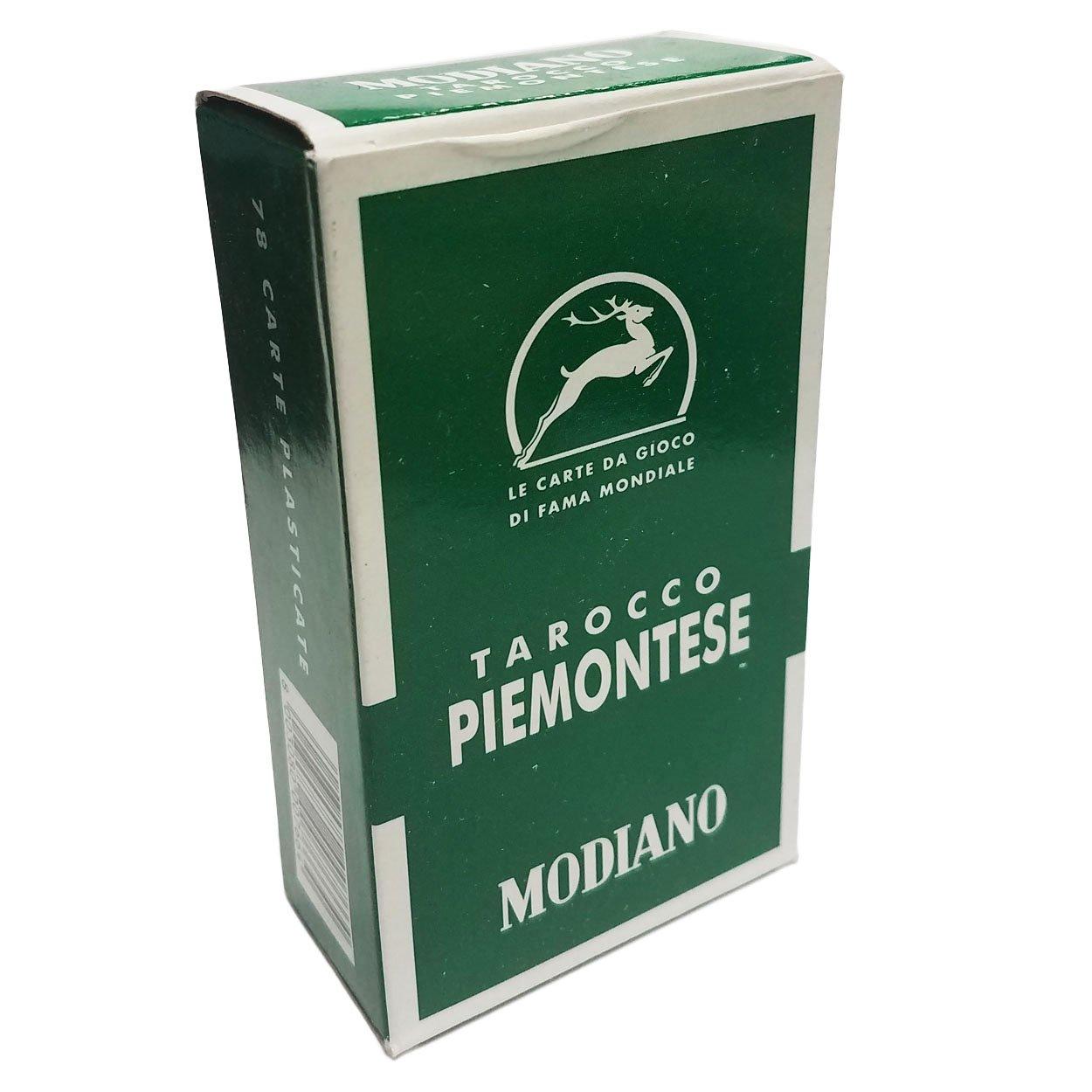 Tarocco Piemontese 84 Verde Green Italian Tarot Deck 78 Cards Piedmont
