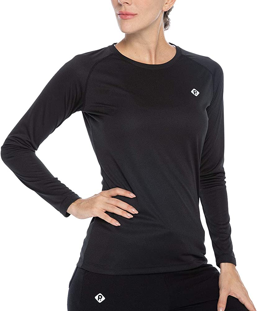 Womens Sun Protection Athletic T Shirt,Lightweight Dry Fit Long Sleeve Performance T Shirt for Womens