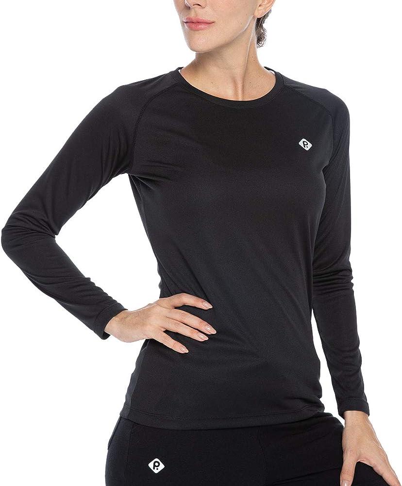 Womens UPF 50 Sun Protection Hiking Shirts Long Sleeve Quick Dry Rashguard Athletic Running Fishing Shirts