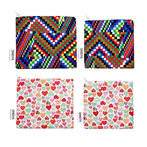 Reusable Snack Bag Sandwich Bags Eco Friendly and Dishwasher Safe Lunch Bags 4 Pack