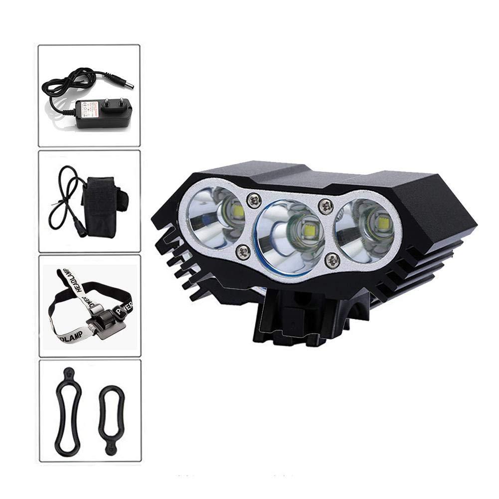 Jweal T6 Fahrrad licht, fahrradbeleuchtung fahrradlampe LED Mountainbike Scheinwerfer Highlight Wiederaufladbare Nachtfahrten Lichter