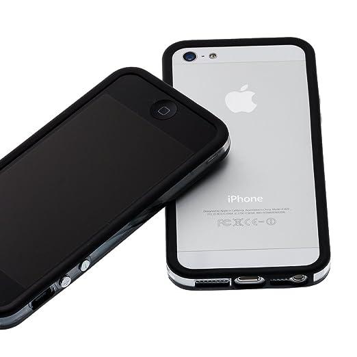 161 opinioni per Easyplace- Bumper per iPhone 5/5S in TPU con bottoni volume cromati, Nero e