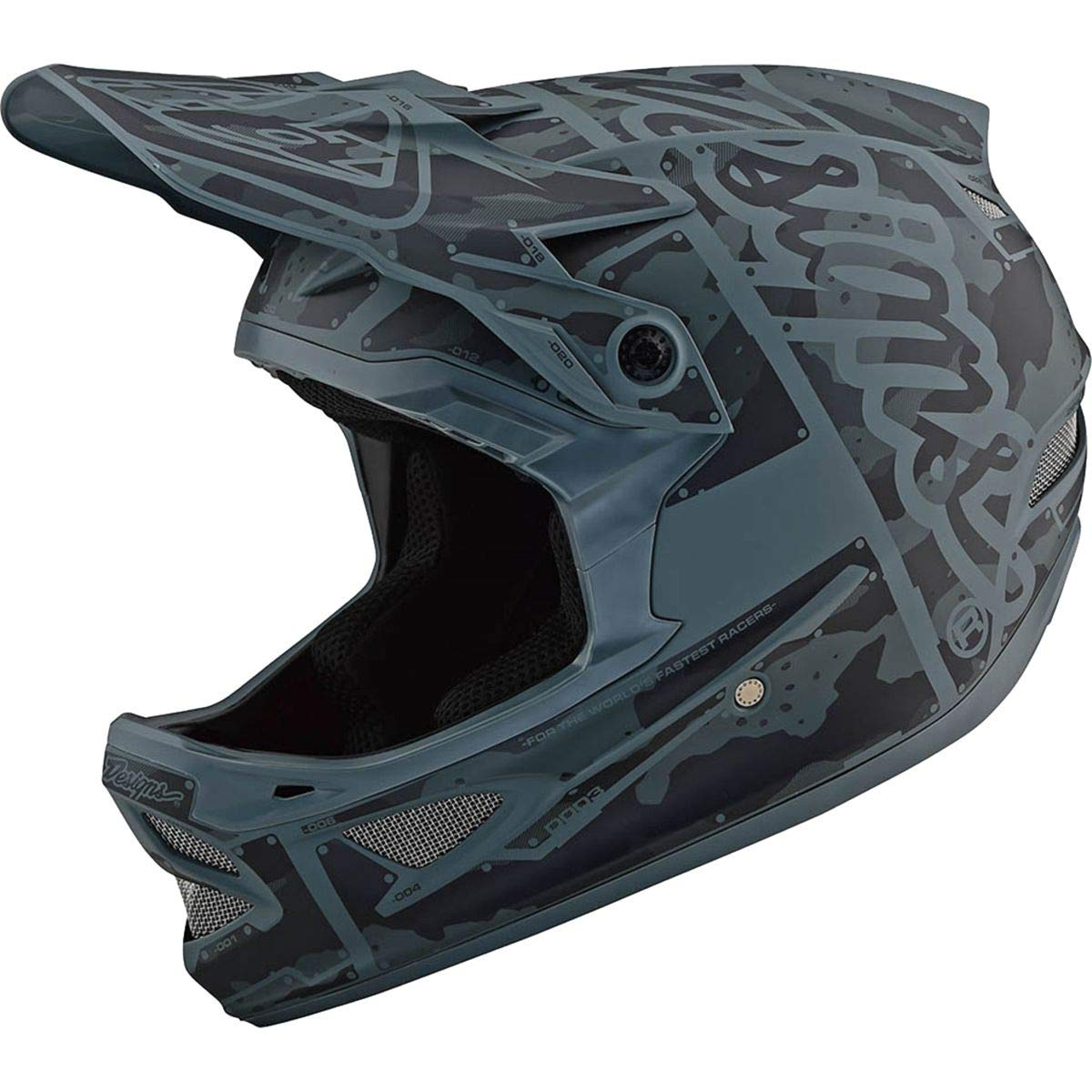 Troy Lee Designs D3 Fiberlite US Helmet Mono