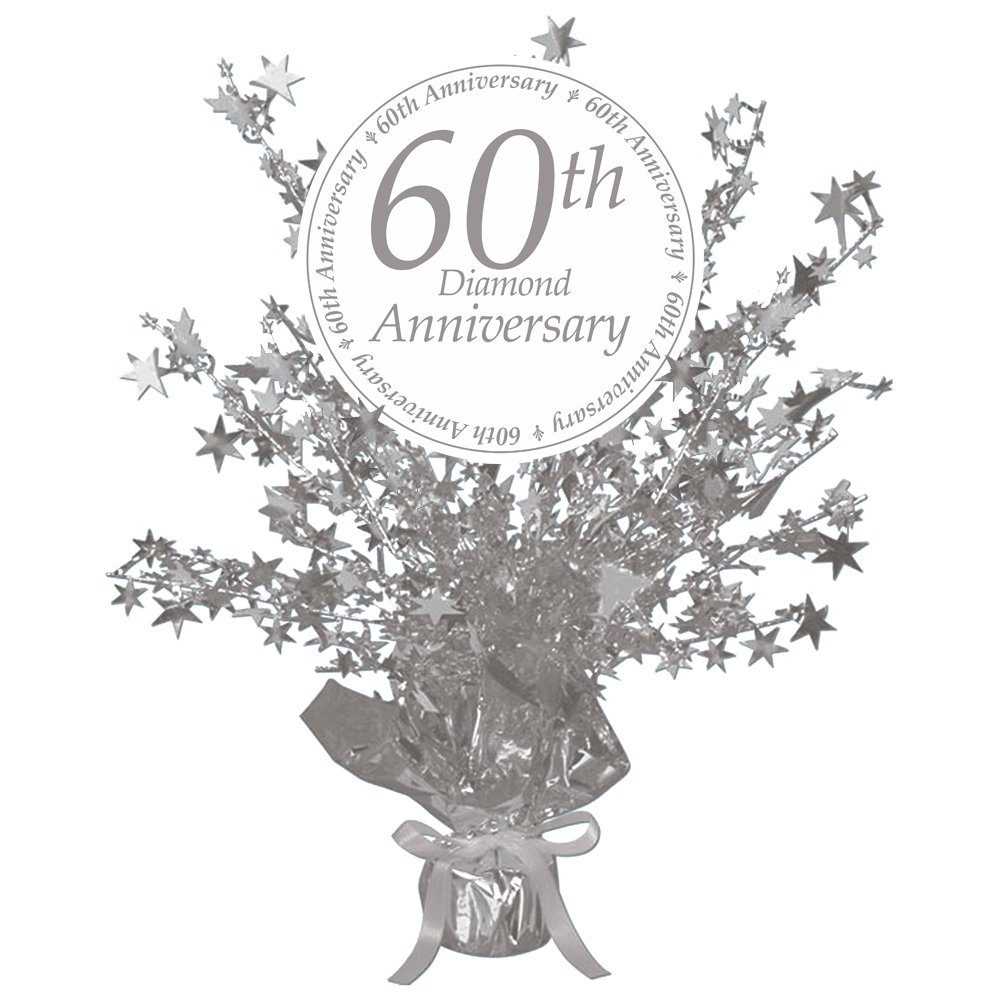 Amazon.com: 60TH ANNIVERSARY CENTERPIECE (EACH) by Partypro: Kitchen ...