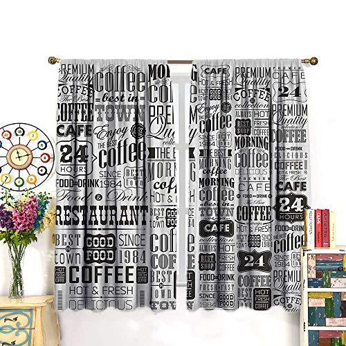 DESPKON Vintage Kitchen Curtains Retro Style Texts and Typog