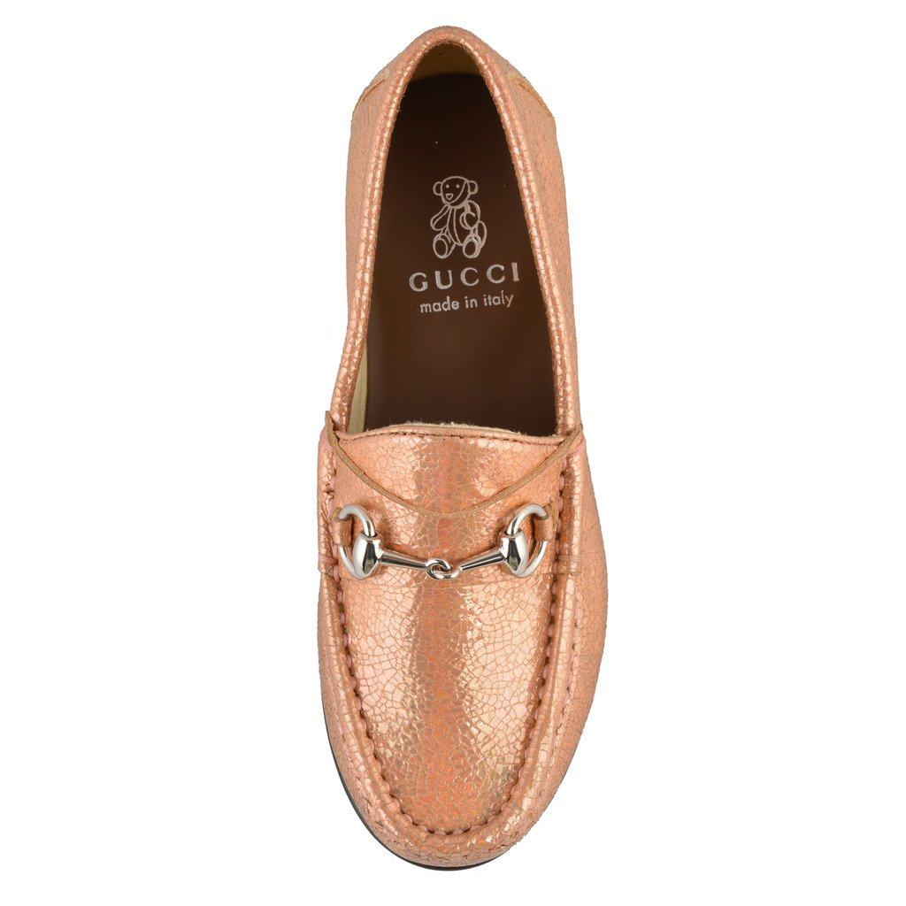 ddc75815e8f Amazon.com  Gucci Girl s Sparkle Leather Horsebit Loafer Shoes US 12 Gucci  Sz 29  Pink  Shoes