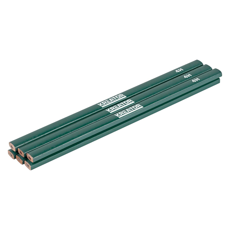 Alyco 149055 Lapiz de madera profesional para construccion 2 colores azul-rojo 175 mm