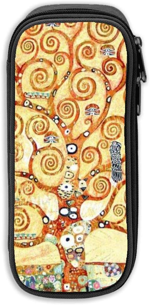 Gustav Klimt - Estuche de tela Oxford unisex, diseño de árbol de la vida, color negro talla única: Amazon.es: Oficina y papelería