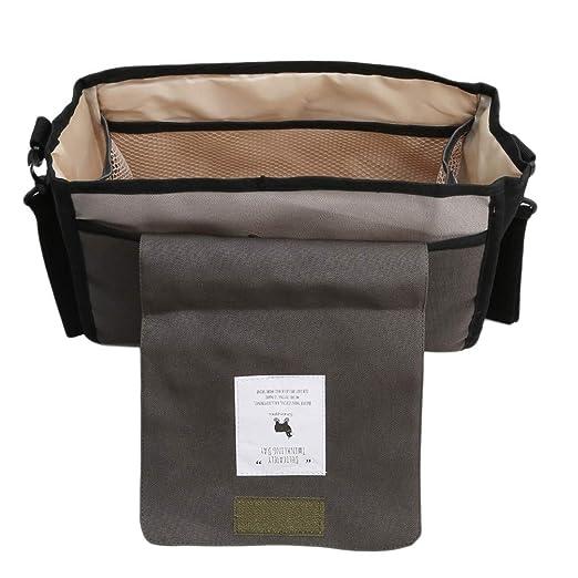 Toporchid Black Mummy Bag Kinderwagen h/ängen Tasche Flasche Windel Hose gro/ße Kapazit/ät Aufbewahrungstasche