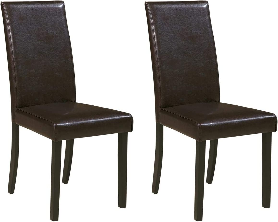 Signature Design by Ashley Stuman Dining Room Chair, Dark Brown (4 Pack)